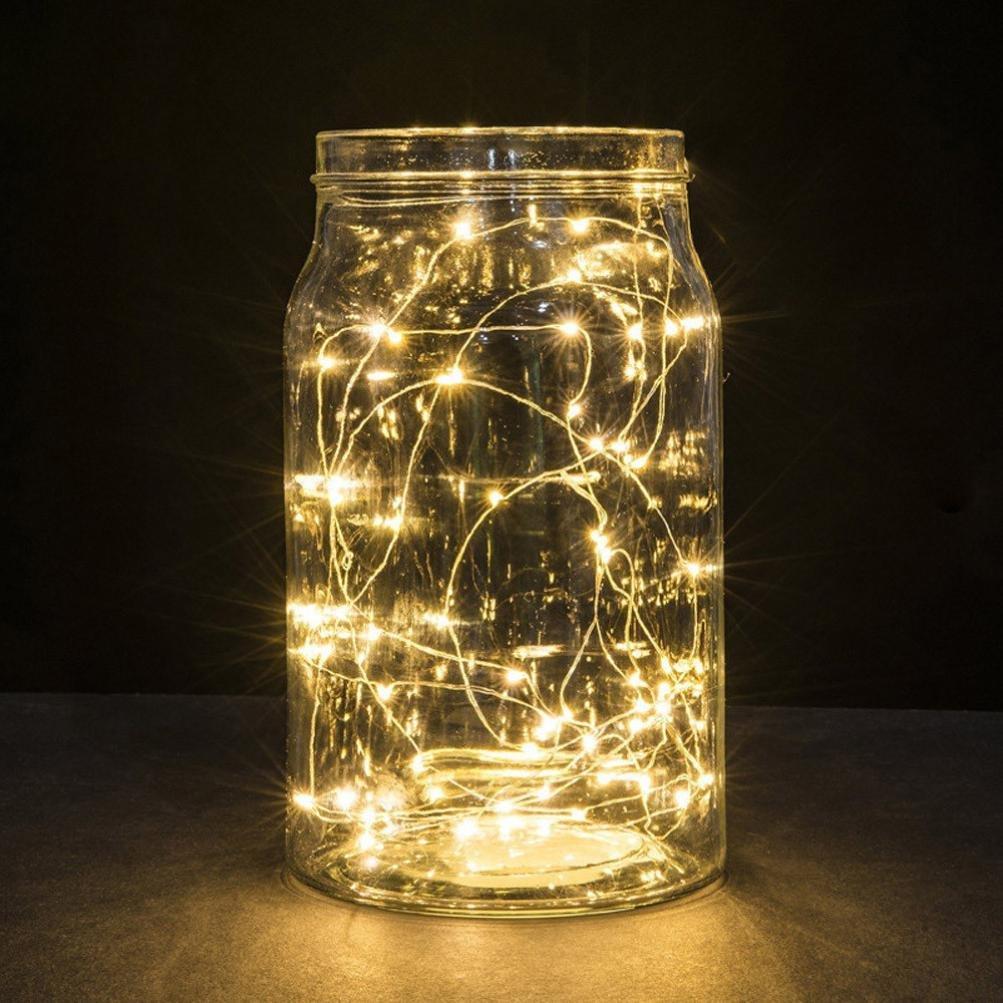 Sensail 1M 10LED Guirlande Lumineuse Chaîne de Lumière de Noël LED Pour Chemin Jardin (blanc chaud)