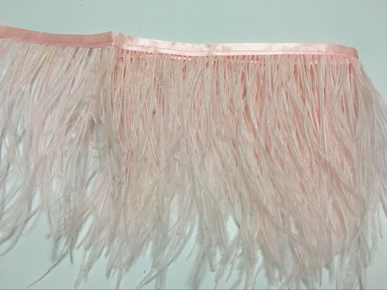 KOLIGHT Pack of 10 Yards Natural Dyed Ostrich Feathers Trim Fringe 4~5inch for DIY Dress Sewing Crafts Costumes Decoration Pink