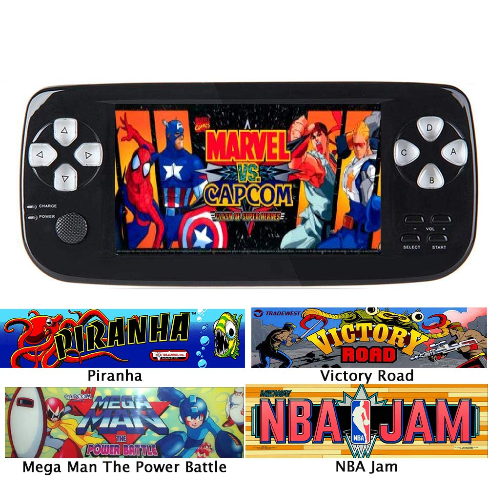 Handheld Game Console, Classic Game Case, Pocket Game Console 3000 Games - Support for Downloading Multi Format Games for Classic Game Fans