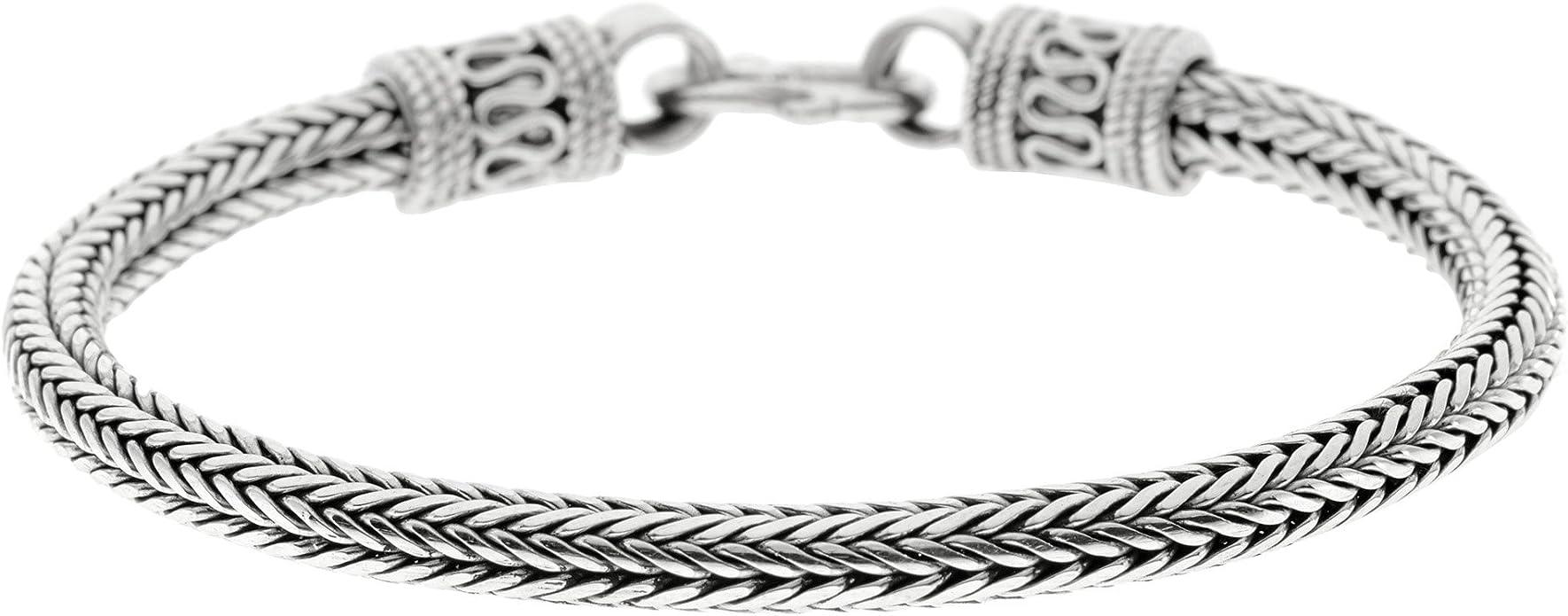 5 mm Argent Sterling Chaîne /& bracelets .925 Flexible serpent 2 mm
