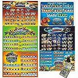 35 xbox card - Skylanders Poster Value Pack with 6 Posters and Bonus Includes Skylanders Spyros Adventure, Skylanders Giants, Skylanders Swap Force, Skylanders Trap Team, and 2 Skylanders Superchargers Posters
