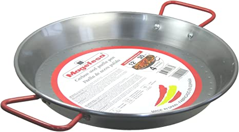 Amazon Com Magefesa Carbon Steel Paella Pan 12 4 Servings Kitchen Dining