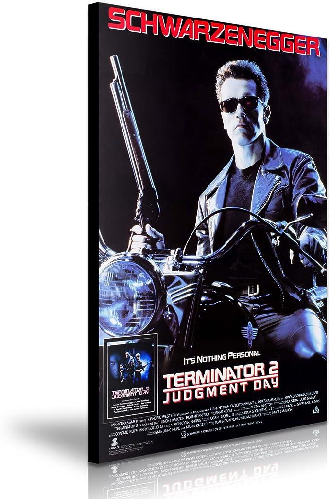 Terminator Arnold Schwarzenegger película lienzo pared Art imagen ...