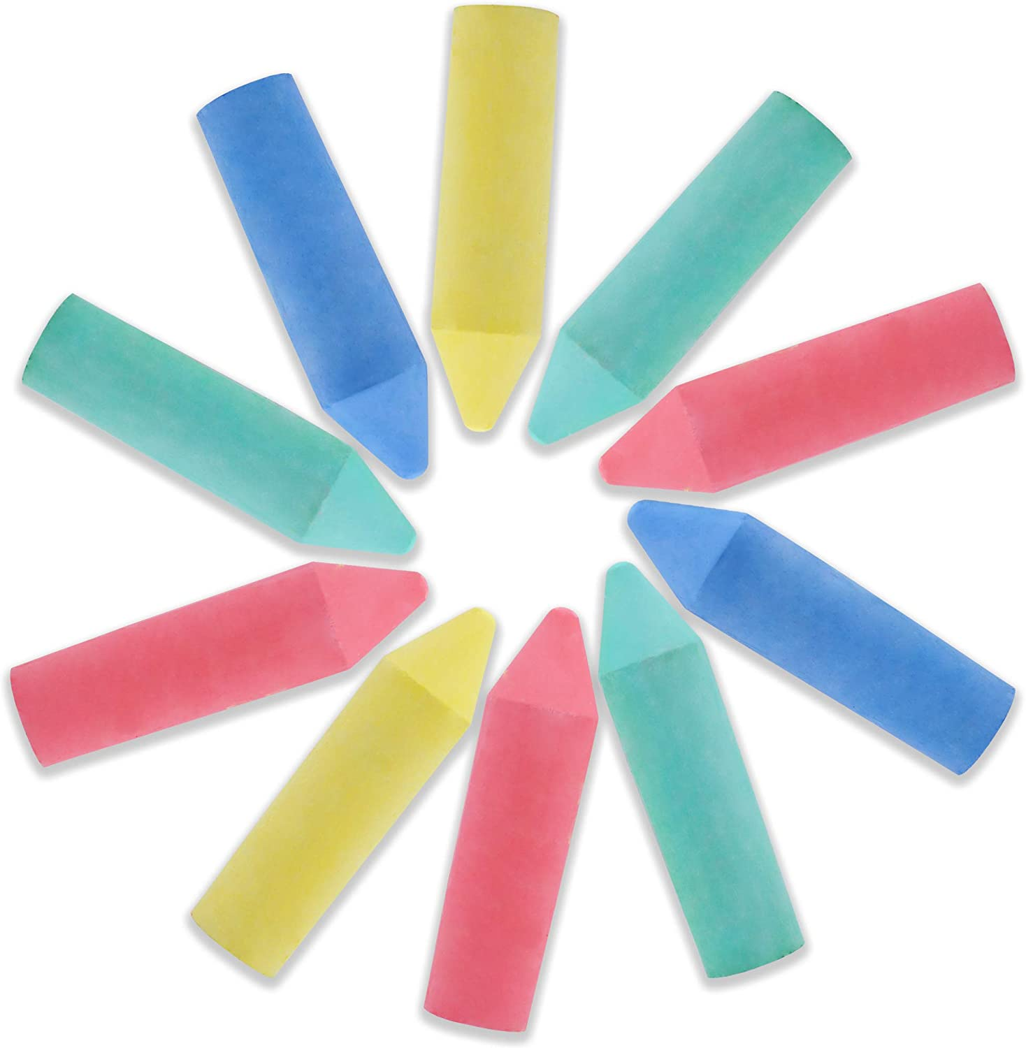 12 PCS Non-Toxic Washable Outdoor Jumbo Sidewalk Chalk Set for Painting on Chalkboard Art Play and Playground Toy