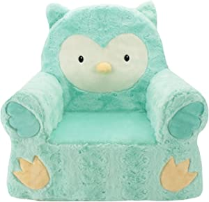 Animal Adventure Sweet SeatsTeal Owl Children's ChairLarge SizeMachine Washable Cover