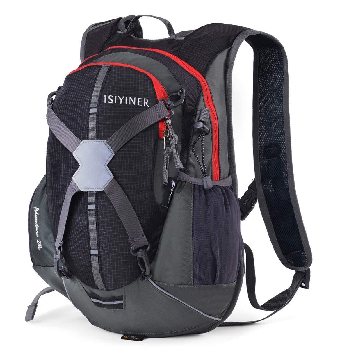 MXKJ-STORE Cycling Backpack Biking Rucksack Riding Daypack Waterproof Drinking Helmet Bag 28L for Men Women Outdoor Sports Running Hiking Camping Travelling Ultralight (Black) [並行輸入品] B07R3YB4WD