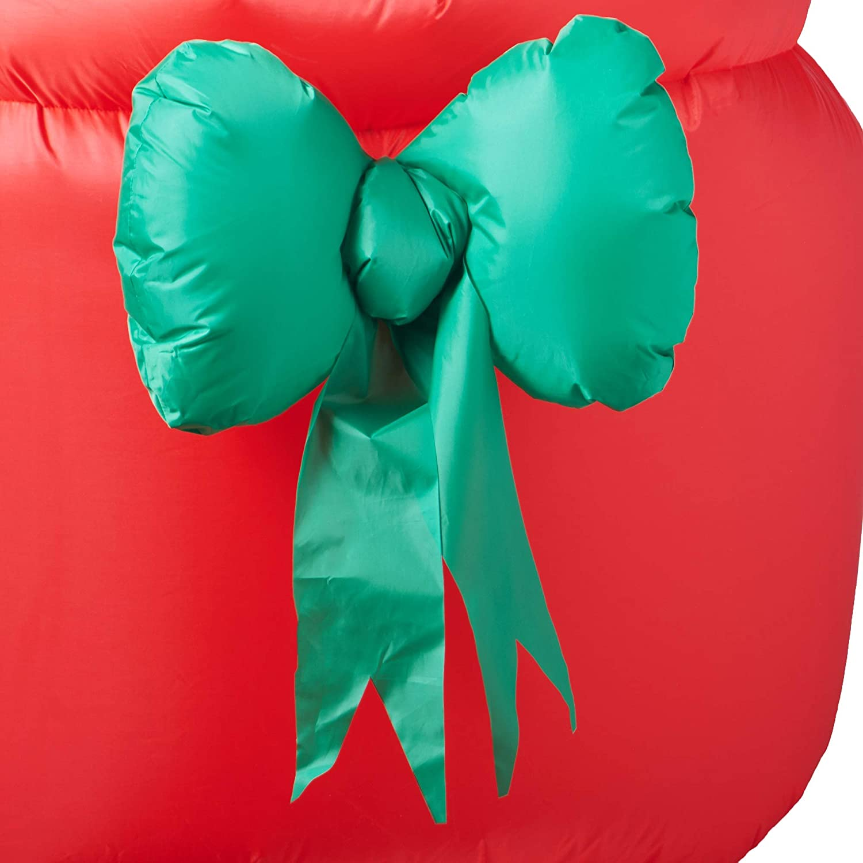 12 Hot Air Balloon Snowman W//Santa Christmas Holiday Airblown Inflatable Yard Decor