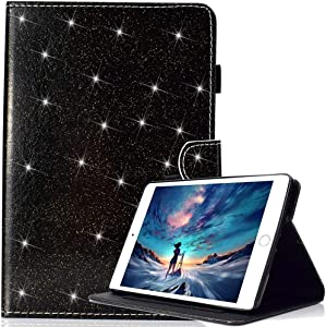 New iPad Pro 11 inch 2018 Case Not with Apple Pencil's magnetic attachment [with Free Pen], Glitter Sparkle Premium Leather, Stand Smart Cover Auto Wake/Sleep for Apple iPad Pro 11