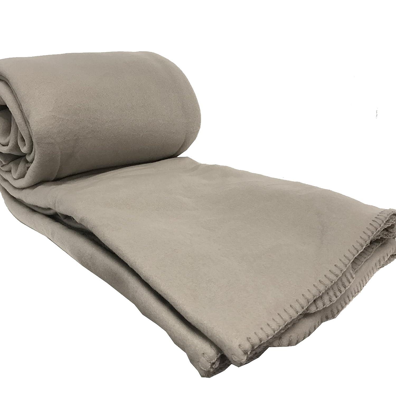 JEMIDI Flanell Microfaser Kuscheldecke Wohndecke Sofadecke Bett/überwurf Sofa Decke erh/ältlich in 3 Gr/ö/ßen bis XXL Flanell Bordeaux 170cm x 130cm