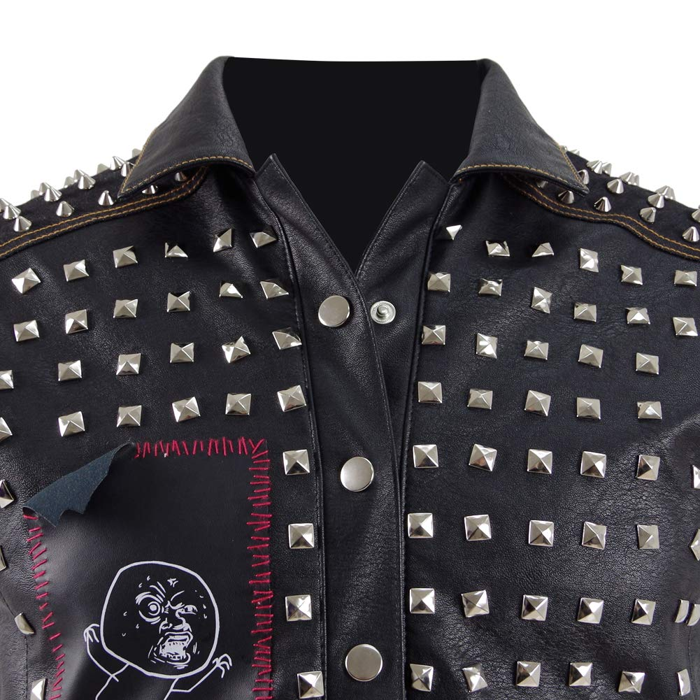 Men's Wrench Leather Jackets Black Vest Halloween Cosplay Costumes by Costume Party Heart (Image #2)