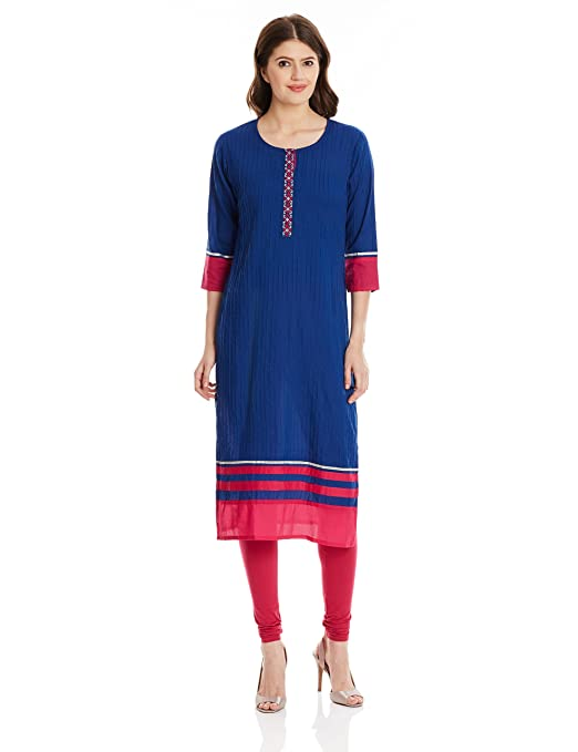 Jaipur Kurti Women's Straight Kurta Kurtas at amazon
