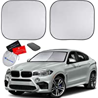 EzyShade Windshield Sun Shade + Extra Item. See Size-Chart with Your Vehicle (Easy-Read). Foldable 2-Piece Car Sunshades…