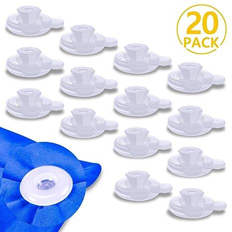 PAMIYO Clip de Edredón 20 Piezas Plásticos Transparente Sujeciones para Edredón Mantiene Las Edredón Previene el