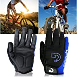 GEARONIC TM New Fashion Cycling Bike Bicycle Motorcycle Shockproof Foam Padded Outdoor Sports Half Finger Short Riding Biking Glove Working Gloves