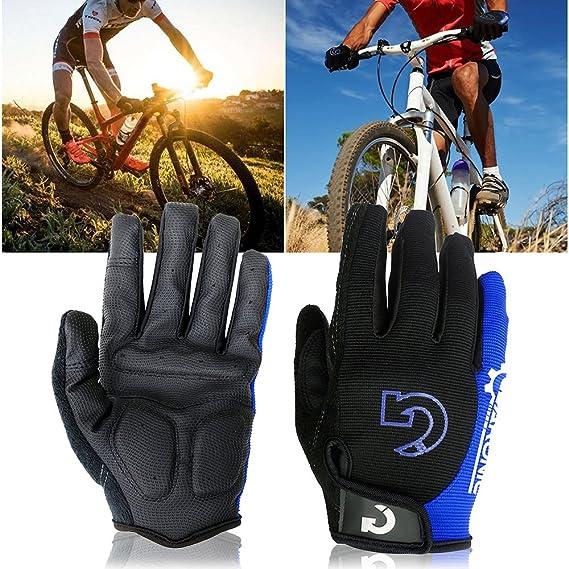 GEARONIC Cycling Shockproof Foam Padded Sports Full Finger Short Gloves