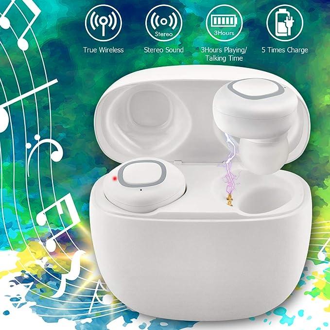 Auriculares Inalámbricos, Auricular Inalambricos con Micrófono, Mini Auriculares Bluetooth Manos Libres Auricular Inalambricos con
