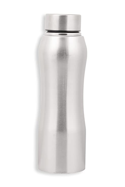 5b65607090 Zafos Stainless Steel Sipper Water Bottle, 750ml, Silver (SilverBistro7):  Amazon.in: Home & Kitchen
