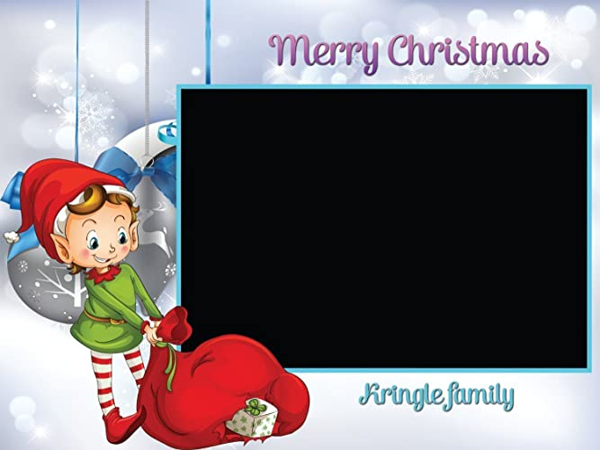 large custom elf christmas photo booth frame prop christmas party christmas gift snowflakes - Elf Christmas Party Decorations