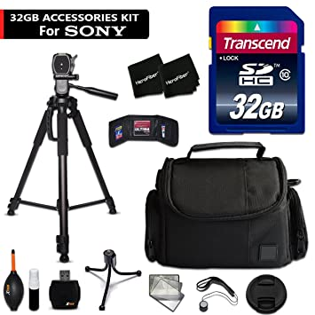 32 Gb Accessory Kit For Sony Alpha A6300, A6000, A5100, A5000, A3000, Alpha A7 Ii, A7 Iik, 7, 7 Ii, 7 S, 7 R Digital Cameras Includes 32 Gb High Speed Memory Card + Fitted Case + 72 Inch Tripos + More by Hero Fiber