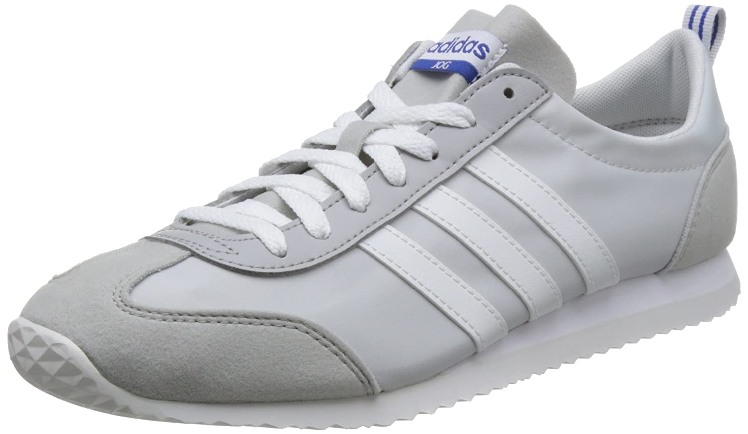 adidas Vs Jog, Zapatillas Para Hombre 42 2/3 EU|Gris (Grey One/Crystal White/Grey Two)