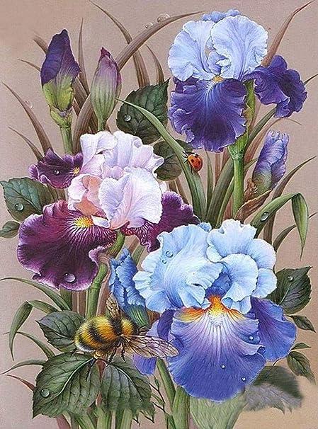 5D DIY Full Drill Diamond Painting Flower Cross Stitch Craft Kit Home Wall Decor