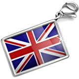 Neonblond Britain Flag - Charm Lobster Clasp clip on