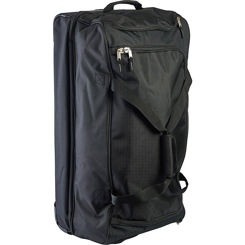 02b2621664b4 US Polo Assn. Men's 30in Deluxe Rolling Duffle Bag, Split Level Storage,  BLACK