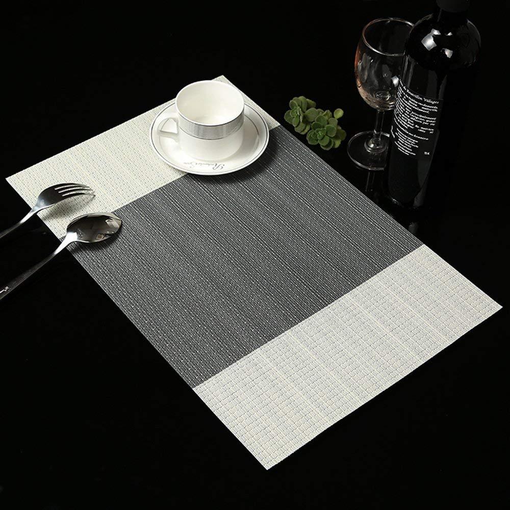addfun/® Premium lavable PVC aislamiento antideslizante manteles individuales Juego de 6 Table Mats