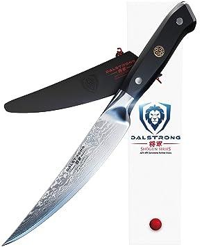 DALSTRONG Cuchillo Filetero - Shogun Series - Acero AUS-10V- con Tratamiento Térmico - 15 cm - Con Funda - Grosor 2mm
