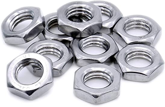 Hex Metric Hexagonal Pack of 500 nuts Full Nuts A2 Stainless Steel M3 3mm