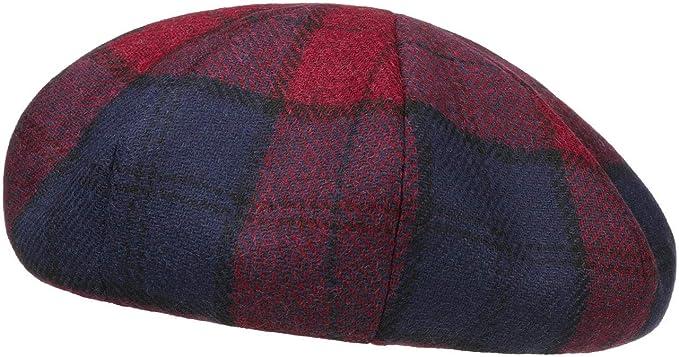 LIERYS 8 Panel Baskenmütze mit Karomuster Baske Wollbaske Damenbaske