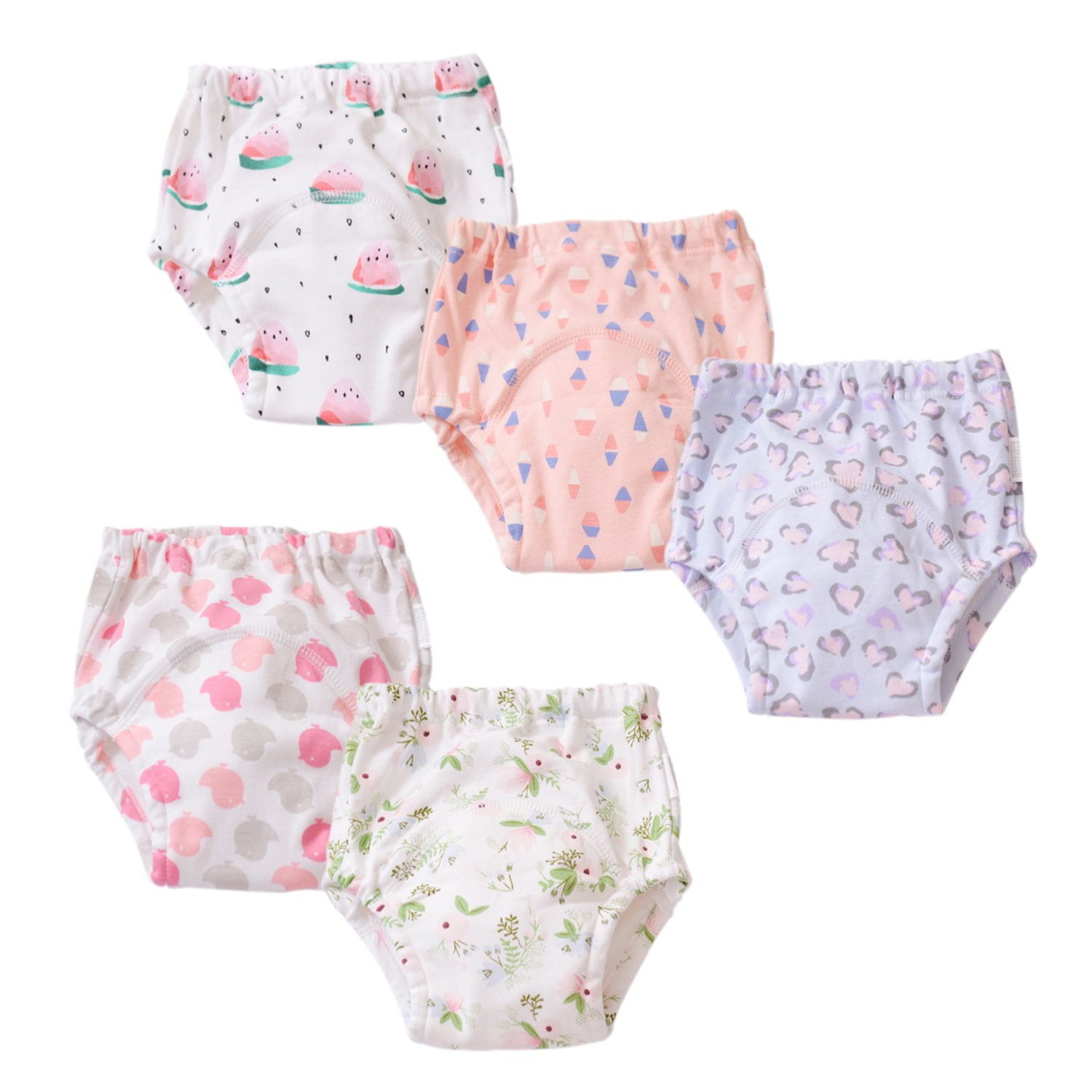 Coodebear Baby Girls' Boys' Cloth Nappy Underwear Breathable Diaper Washable Cotton Training Pants