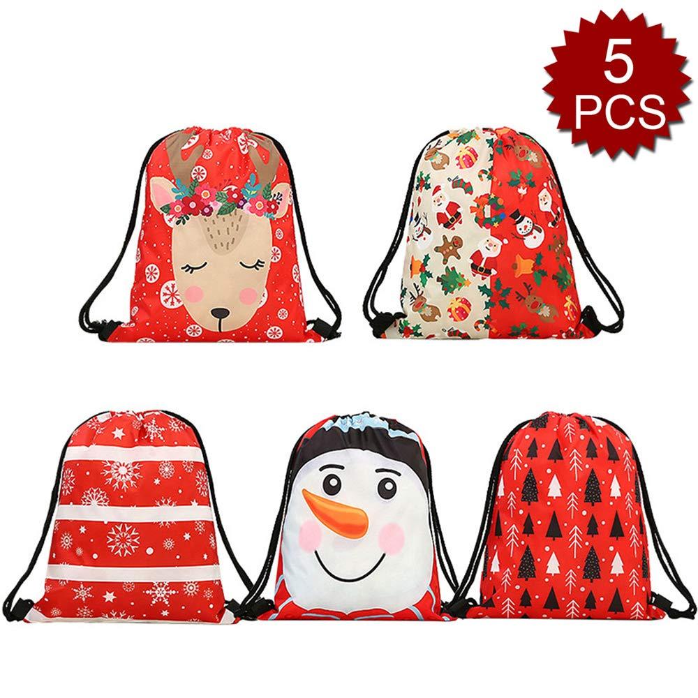 Assorted 6 6PACK Opromo 6 Pack Halloween Bag Pumpkin Pattern Print Goodie Bags for Trick or Treat