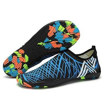 bekilole Hombres Mujeres descalzo de secado rápido deportes de agua zapatos piel Aqua calcetines de drenaje