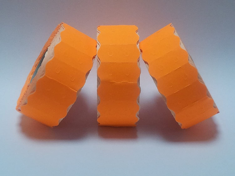 Sato S26 - Etiquetas para pistola de precio, 26 mm x 12 mm, color naranja fluorescente permanente – 30 rollos/45.000 etiquetas