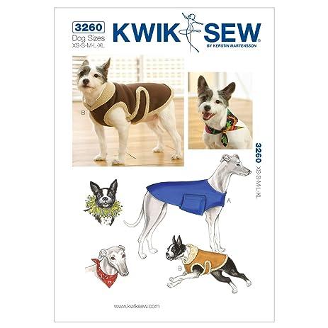 Amazon.com: Kwik Sew K3260 Dog Coats Sewing Pattern, Bandana and ...
