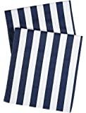 Table Runners Striped Table Runner Party Wedding Table Covers Blue and White 72 Inch x 15 Inch