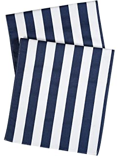 Table Runners Striped Table Runner Party Wedding Table Covers Blue And White  72 Inch X 15
