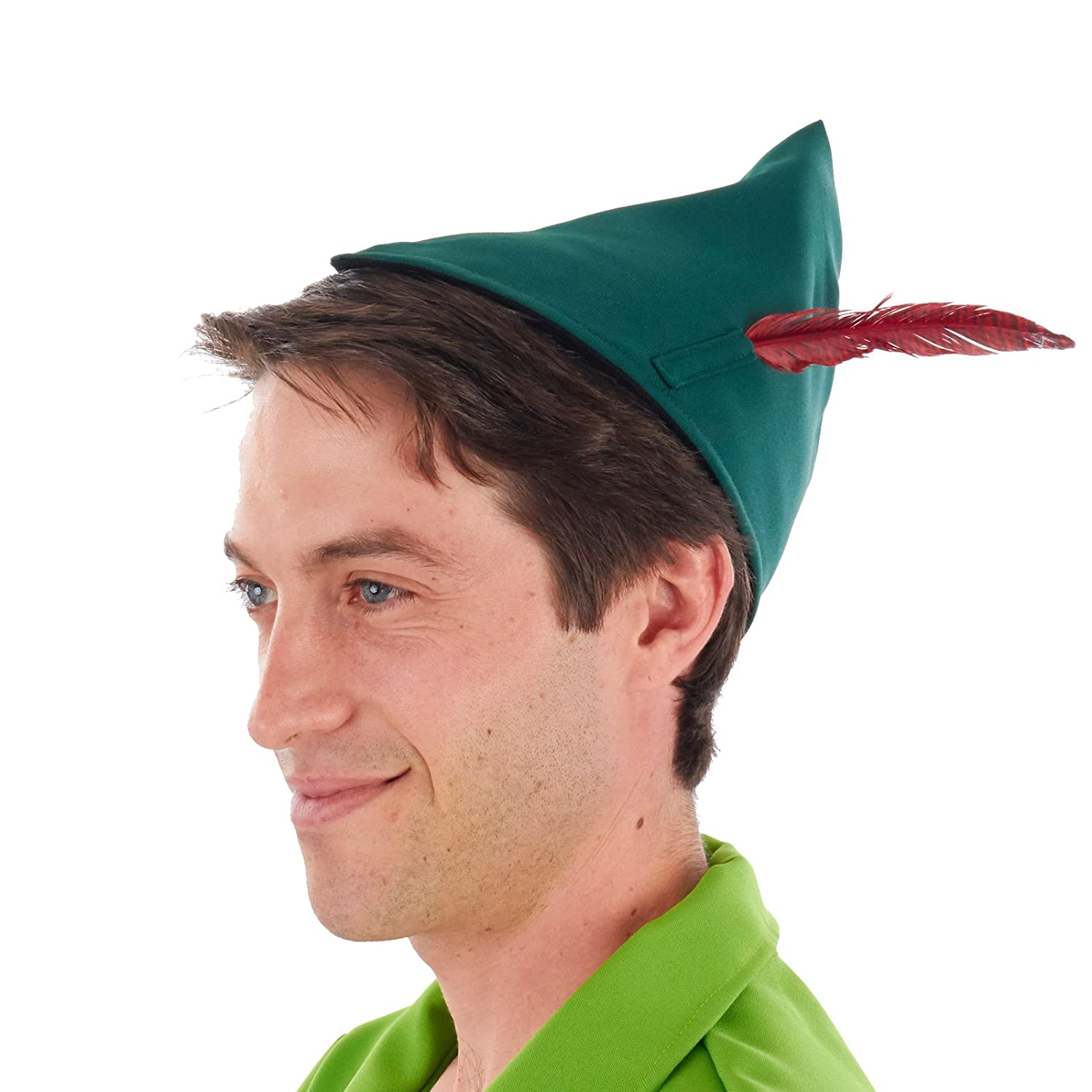 Classic Peter Pan Costume Hat Feather Peter Pan Hat JKH (2 oz)