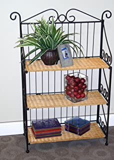 4D Concepts Metal And Wicker Bookcase MPN 143014