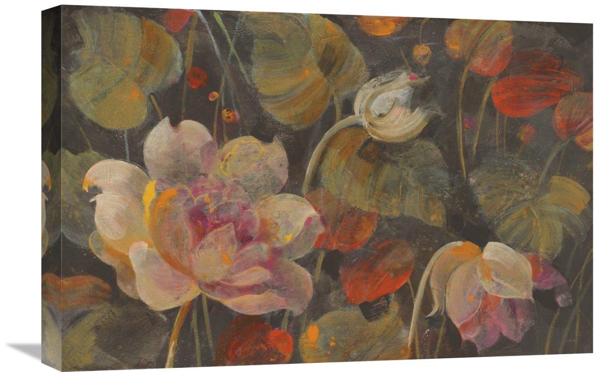 Global Gallery\'Albena Hristova \'Night Garden\' Giclee Stretched Canvas Artwork 24\' x 16\'