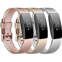 Wanme Compatibel met Fitbit Inspire Strap & Fitbit Inspire HR Strap, waterdichte zachte sportband vervangende banden…