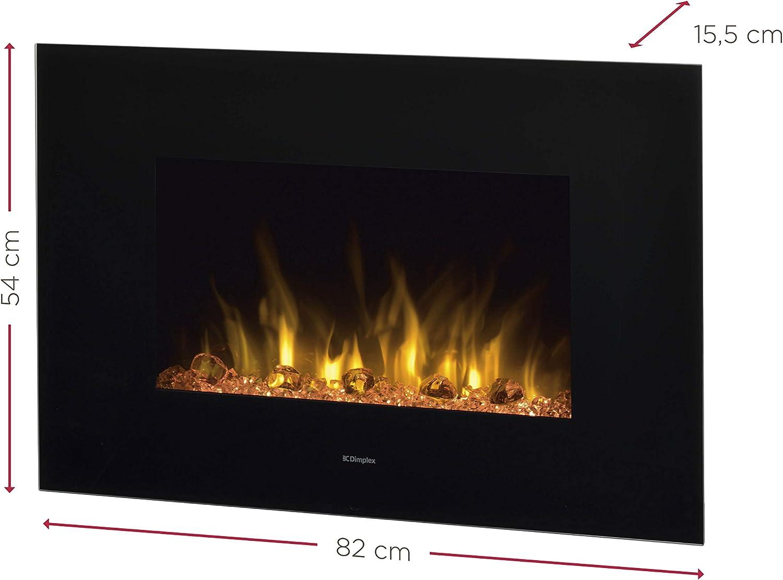 230 V, 50 Hz, 2000 W, 10 W, 2000 W, 820 mm DIMPLEX Toluca Wall-mountable Fireplace El/éctrico Negro Interior Chimenea