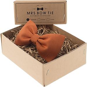 Mrs Bow Tie Faux Silk Ready-Tied Bow Tie - Copper
