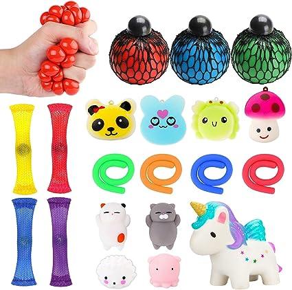 Stretchy Caterpillar Sensory Toy Squishy Fidget Ball Office fidget