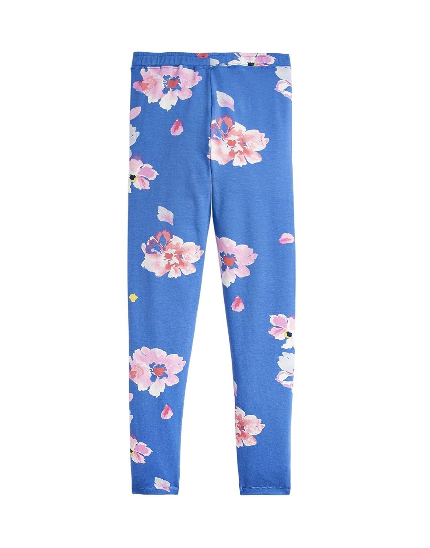 Joules Deedee Jersey Printed Leggings Mid Blue Floral