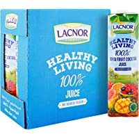Lacnor Healthy Living Super Fruit Cocktail Juice - 1 Litre (Pack of 6)