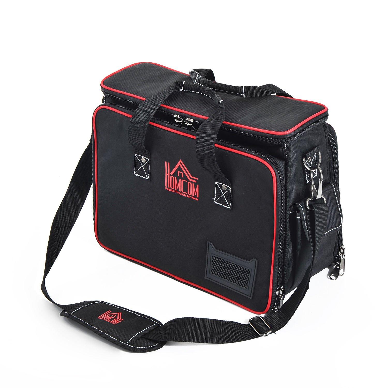 Homcom® Werkzeugtasche Werkzeugkoffer Wergzeug Tasche mit Schultergurt B20-030