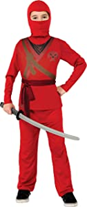 Ninja Child's Costume, Red, Medium