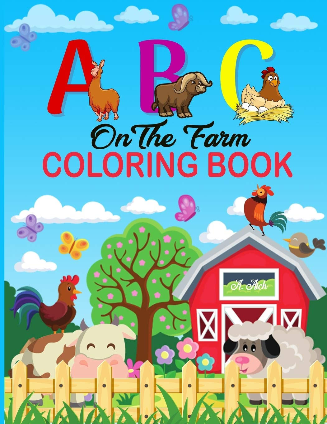Farm Animals Tracing Coloring Pages - Itsy Bitsy Fun | 1360x1051